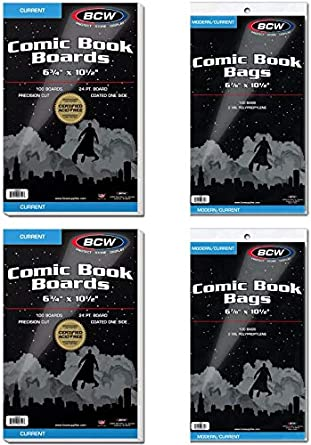 200 Ultra Pro Current COMIC BOOK Storage Bags And Boards  Brand New
