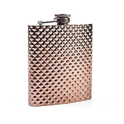 Mealivos 6oz Stainless Steel Hip Flask (rose gold dot)