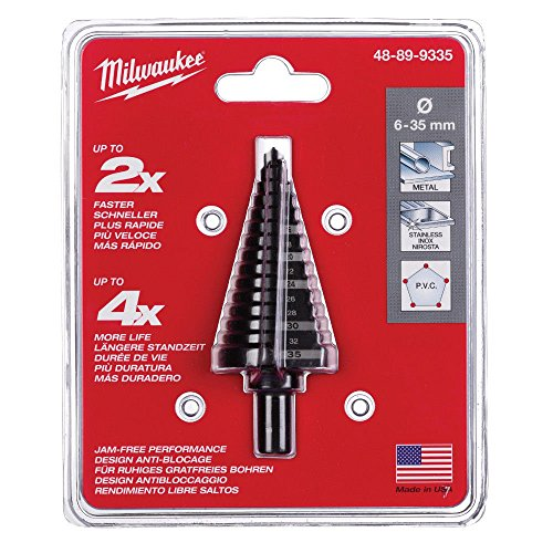Milwaukee Step Drill Bit 15 Holes Size 3/8in Shank