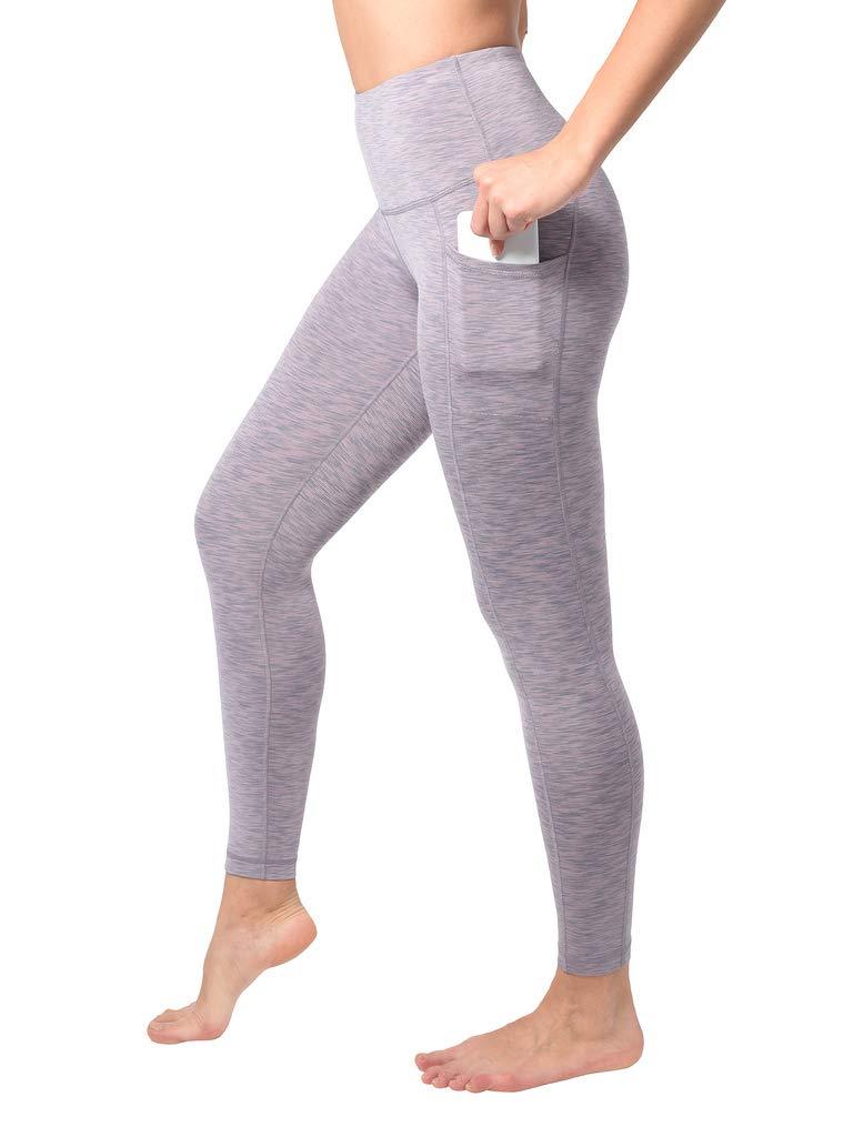 90 Degree By Reflex Women's Power Flex Yoga Pants - Primrose Space Dye - Large by 90 Degree By Reflex