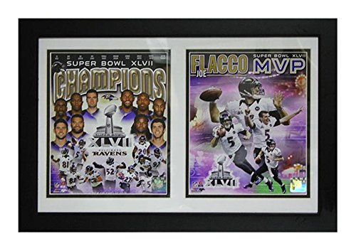 Encore Select 121-05 NFL Baltimore Ravens Double Framed Sports Memorabilia, 12-Inch by (Baltimore Ravens Picture Frame)