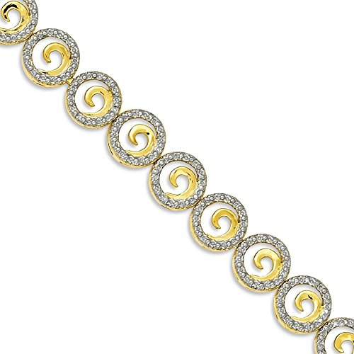 Diamond Accent Circle Bracelet - 5