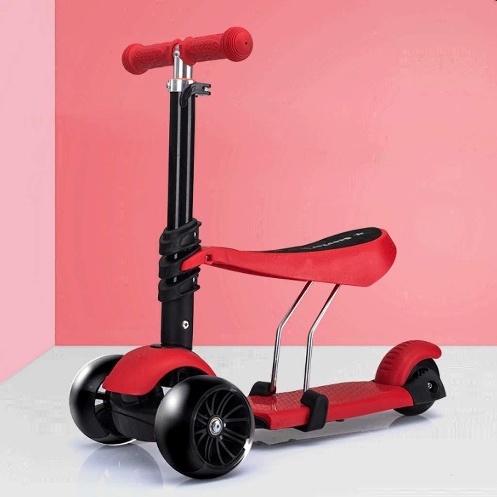 肌触りがいい WangYi 53x26x75cm スケートボード- 1-3-6歳のフラッシュホイールスクーターは三輪スクーターを取ることができます (色 : (色 Green, B07NMFXZW4 サイズ さいず : 53x26x75cm) B07NMFXZW4 53x26x75cm Red Red 53x26x75cm, 越谷市:ce381f97 --- a0267596.xsph.ru