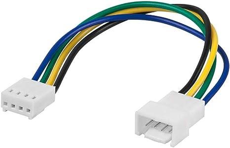 Wentronic - Cable alargador para Ventilador (Entrada y Salida de 4 Pines), Color Blanco: Amazon.es: Informática