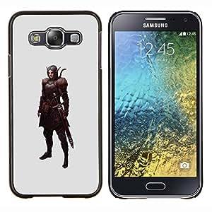 YiPhone /// Prima de resorte delgada de la cubierta del caso de Shell Armor - juegos de pc espadachín guerrero elfo mística - Samsung Galaxy E5 E500