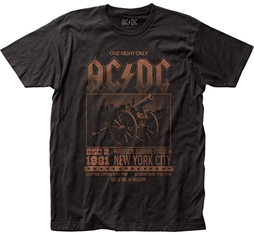 AC/DC Madison Square Garden Fitted Jersey tee (Large) Black
