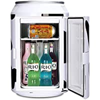 Mini Fridge Electric Cooler and Warmer (11 Liters/15 Can) AC/DC Thermoelectric System Portable Refrigerator For Home,Office, Car, Dorm or Boat Compact AC & DC Power Cords