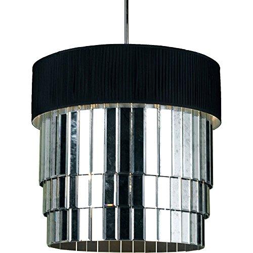 AF Lighting 6740 6-Light Pendant- Black Shade