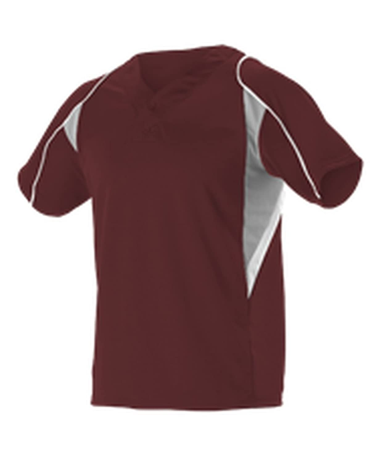 Alleson Athletic SHIRT ボーイズ B076BMH6FGMaroon, Grey, White Small