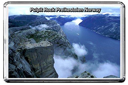 Pulpit Rock (0290 PULPIT ROCK PREIKESTOLEN NORWAY JUMBO PHOTO REFRIGERATOR MAGNET FRIDGE MAGNET NORWAY LANDMARKS, NORWAY ATTRACTIONS)