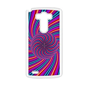 Artistic pink rotations pattern fashion phone case for LG G3