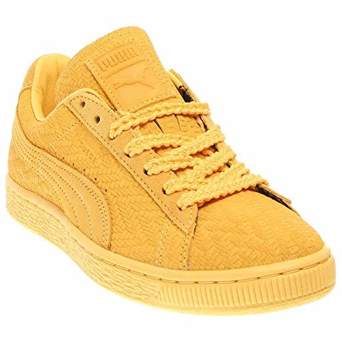 Suede Classic Woven Womens (Solange Knowles Colab) in Snapdragon/Team Gold by Puma, 8