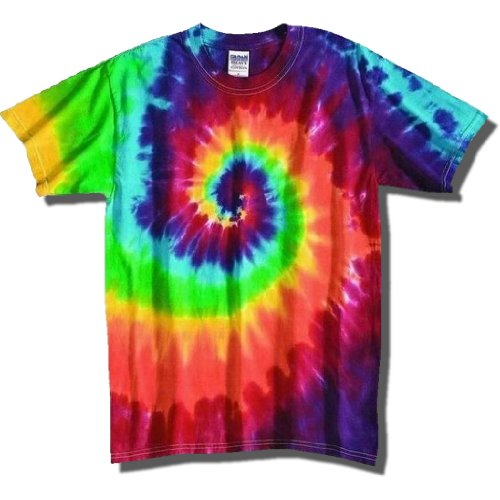 Tie Dye Mania Adult Classic Retro Swirl Tie-Dye Short Sleeve T-Shirt - XX-Large - Dyed Cotton Short Sleeve Tee