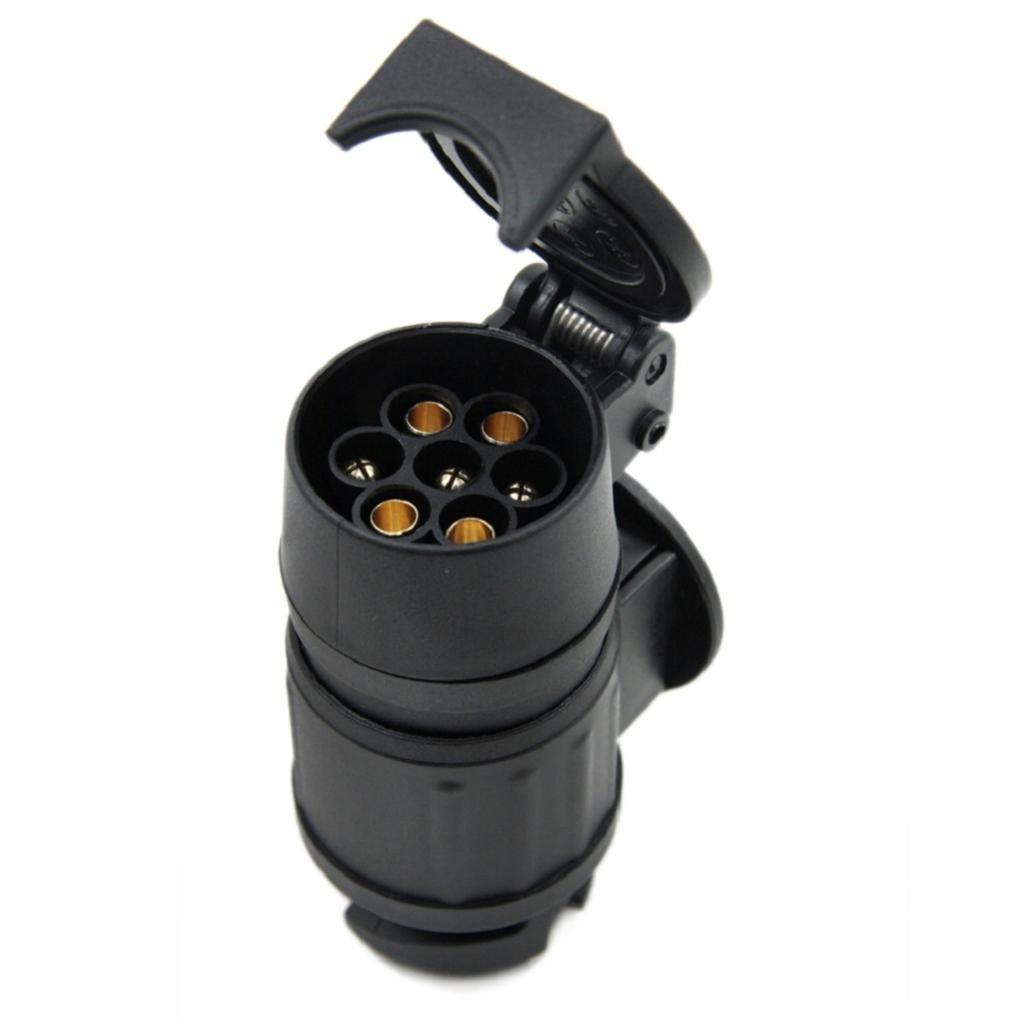 MagiDeal Rallonge Spirale Remorque 13/à7Broche Trailer Light Voiture Adaptateur 12V