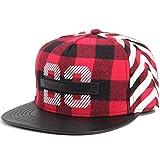 Kuyou Women's Hip-Hop Trucker Hat Baseball Cap (Number Red)