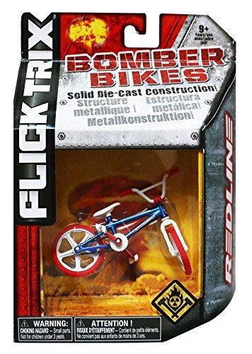 Flick Trix Die-cast Bomber Bikes - Redline (Blue, White, Red) by Flick Trix - Redline