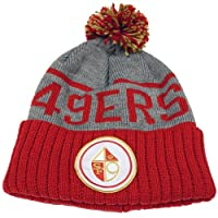Mitchell & Ness Men's San Francisco 49ers High 5 Beanie One Size Grey