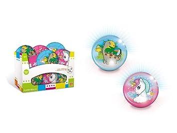 Mondo Pelota con Luz 10Cm Flash Ball Unicornio (09129), Multicolor ...