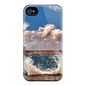 Faddish Phone Splashing Waves Case For Iphone 4/4s / Perfect Case Cover Kimberly Kurzendoerfer