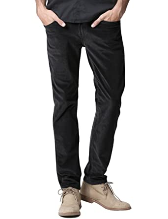 Match Men's Slim-Tapered Flat Front Casual Corduroy Pants #8052 at ...