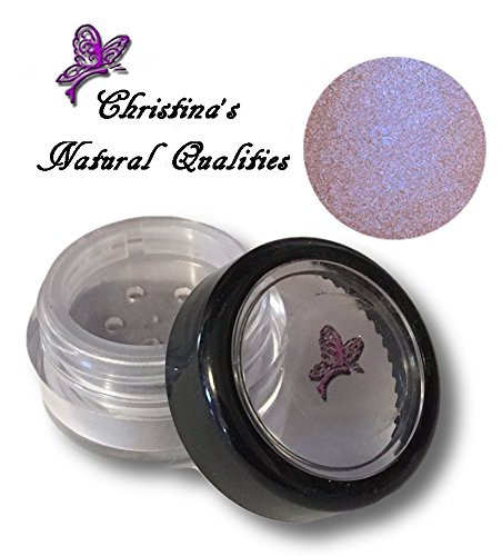 Natural Irridescent - Christina's Natural Qualities All Natural Mineral Powder Rainbow Pearl Eye Color (Eyeshadow) - Camelot Rainbow (Pink Blue Iridescent)