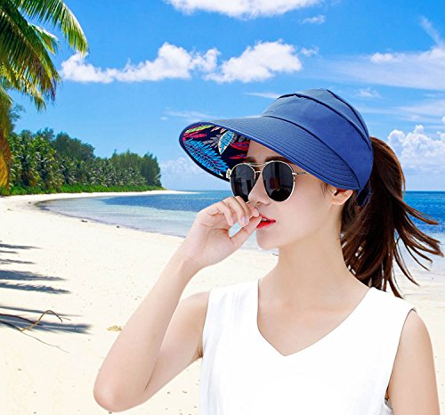 acafe3e9ee9 HINDAWI Sun Hat Sun Hats for Women Wide Brim Packable UV Protection Visor  Floppy Womens Beach
