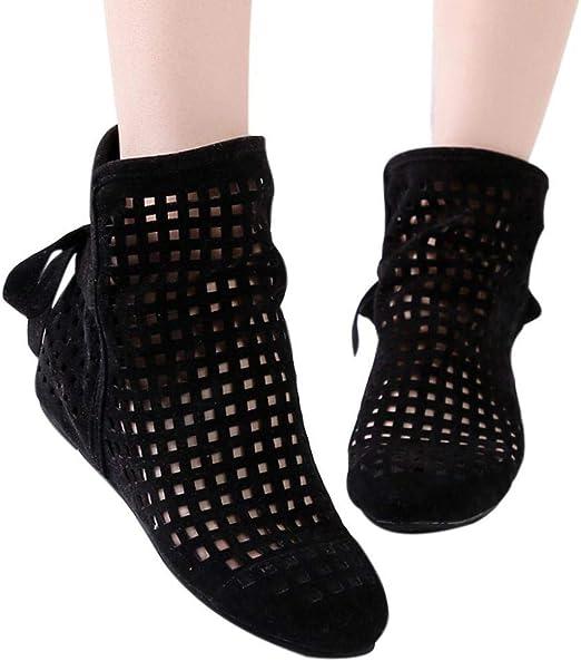 Amazon.com: Gyoume Sandalias Huecas Botines Zapatos Mujer ...