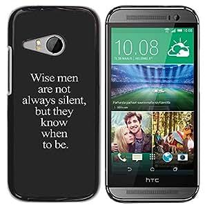YOYOYO ( NO PARA HTC ONE M8 ) Smartphone Protección Defender Duro Negro Funda Imagen Diseño Carcasa Tapa Case Skin Cover Para HTC ONE MINI 2 M8 MINI - sabio me texto gris inspirador inteligente profunda