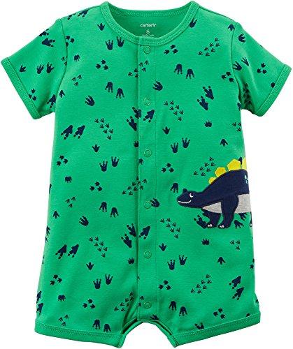 Carter's Baby Boys' Short Sleeve Roar Dino Foot Print Romper 12 - Rompers Carters Boys