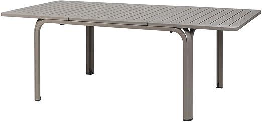NARDI Alloro Tortora - Mesa de comedor de plástico y aluminio (210-280 cm): Amazon.es: Juguetes y juegos