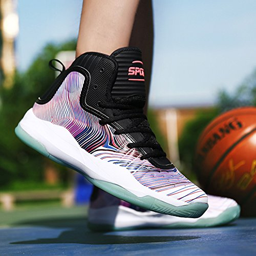 Sports A Lightweight Sneakers Top Fashion Weweya Men's High Basketball Shoe White Breathable Athletic Running nCxgwqav