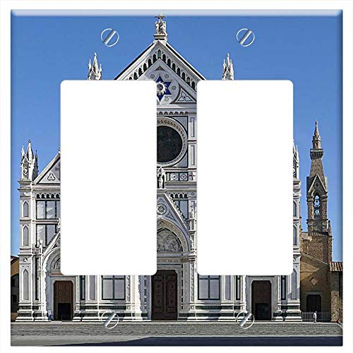 Switch Plate Double Rocker/GFCI - Santa Croce Basilica Florence Italy Cathedral