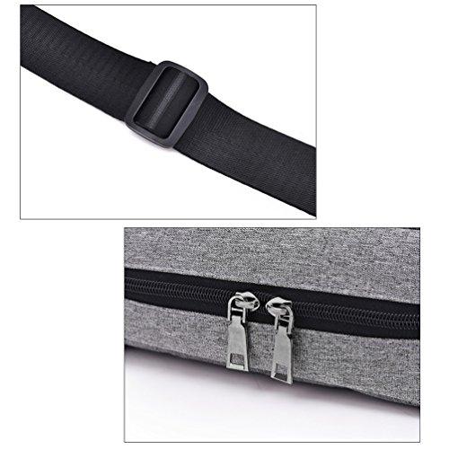 Vbiger Männer Frauen Laptoptasche Oxford Tuch Aktentasche Klassische Tablet Schultertasche Große Kapazität Business Handtasche Rosa