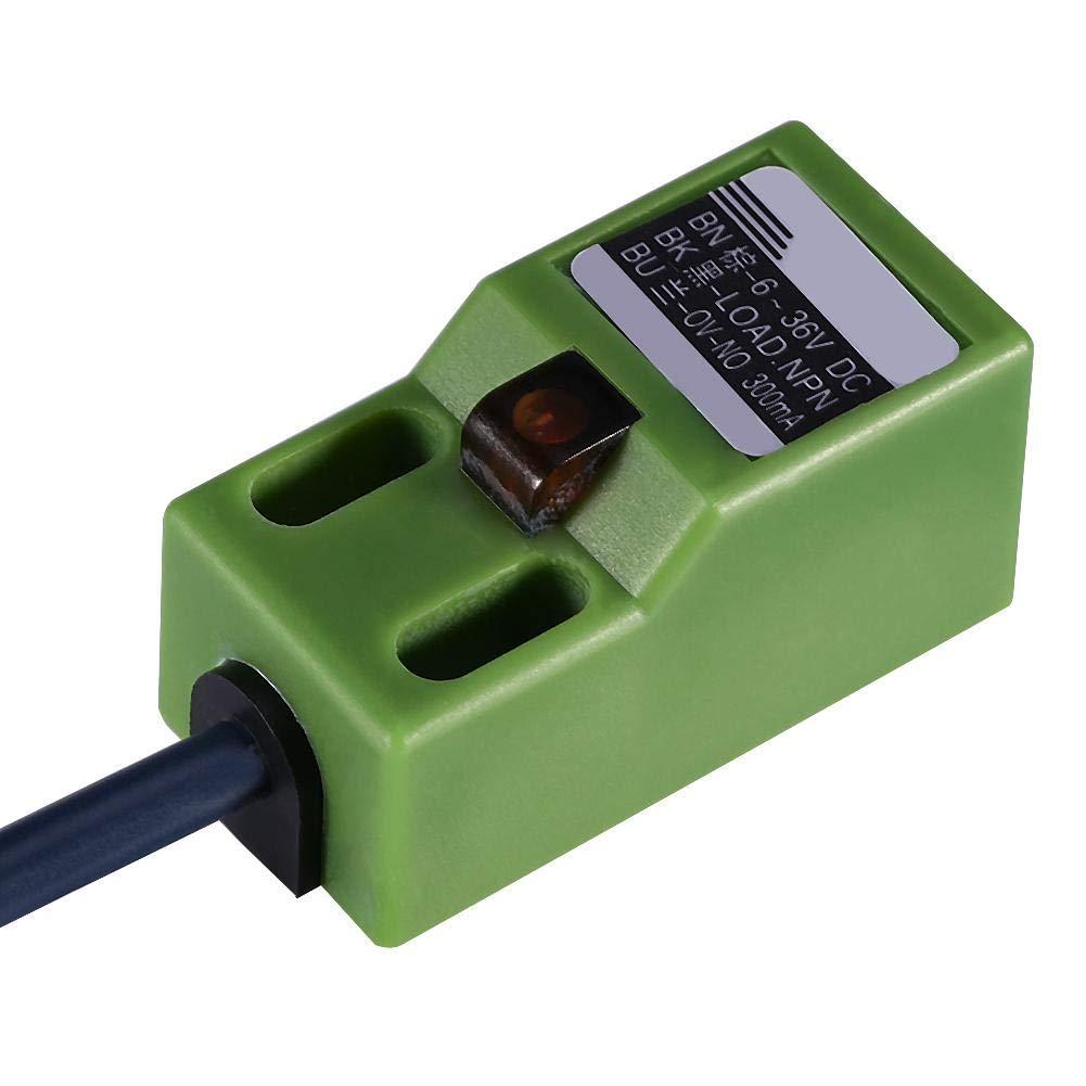 Capteur de nivellement automatique 1PC /à trois fils NPN CC 6-36V Capteur de position de nivellement automatique SN04-N Vert
