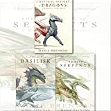 Marie Brennan A Memoir By Lady Trent Series Collection 3 Books Set, (The Tropic of Serpents, Voyage of the Basilisk and A Natural History of Dragons)