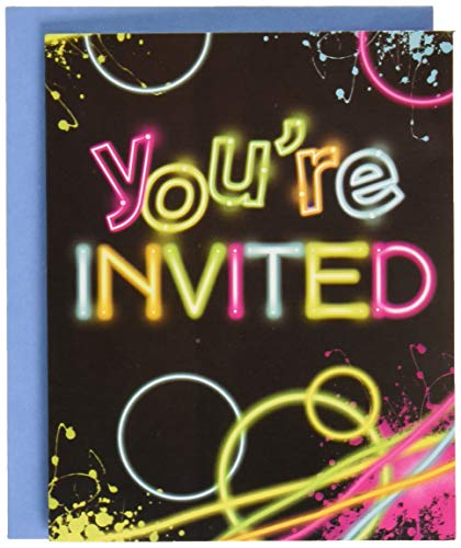 Creative Converting Glow Birthday Party Invitations, Multicolor, One Size]()
