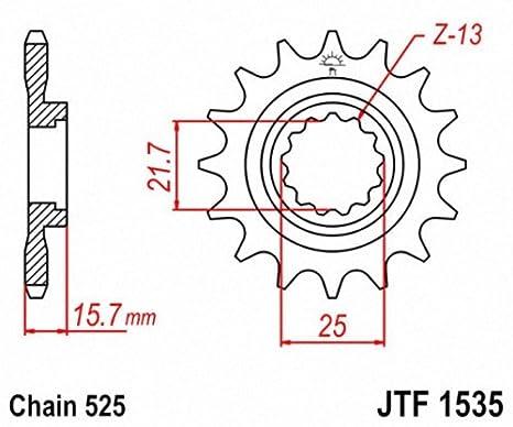 JT Sprockets JTF253.13 13T Steel Front Sprocket
