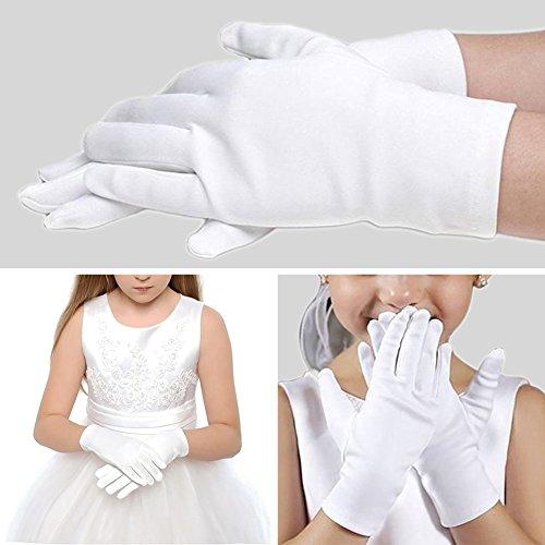 0d177ac8dc86f AMAA 手袋 子供 フォーマル ドレスグローブ 白 ショート 礼儀 グローブ ウェディング 結婚式 発表会 誕生