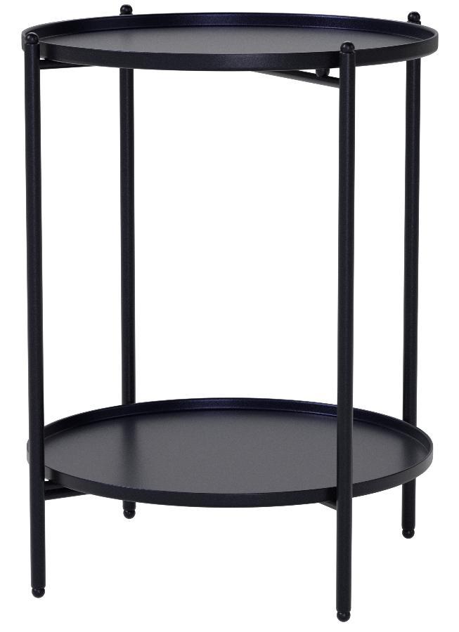 2 Ablagen Couchtisch Tisch Metall Beistelltisch schwarz 50x35 cm klappbar