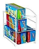 """DecoBros Kitchen Wrap Organizer Rack, White (Large, 3-3/4"""" BOX) (Kitchen)"""