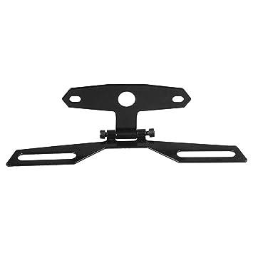Demiawaking Motorcycle Adjustable Folding License Number Plate Frame ...