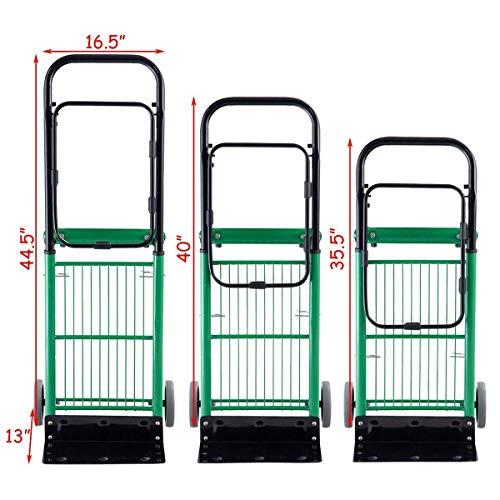 Amazon.com : ASdf Trolley Foldable 2 in 1 Multi-Function Dolly Garden Lawn Bag Trolley Unicycle 200 Lb Capacity, Green : Garden & Outdoor