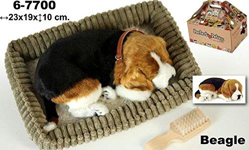 DonRegaloWeb – Plüsch mit täuschend-der Rasse Beagle Hund mit Bewegung