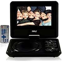 Pyle Home PDH7 7-Inch Portable TFT/LCD Monitor with Built-In DVD Player MP3/MP4/USB SD Card Slot