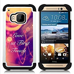 - LOVE AT FIRST TOUCH - - Doble capa caja de la armadura Defender FOR HTC ONE M9 RetroCandy