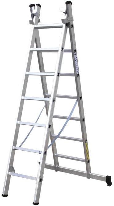 Escaleras Aluminio 2 tramos EN 131: Amazon.es: Bricolaje y herramientas