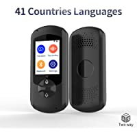 Language Translator Device,Real-time Two-Way Foreign Speech/Text WiFi&4G 2.4 inch IPS Touch Screen for Travelling Abroad Learning Off-Line Shopping Business Chat Recording Translations(Black)