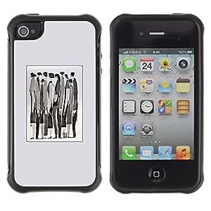 Suave TPU GEL Carcasa Funda Silicona Blando Estuche Caso de protección (para) Apple Iphone 4 / 4S / CECELL Phone case / / Meaning Watercolor Abstract Businessman /
