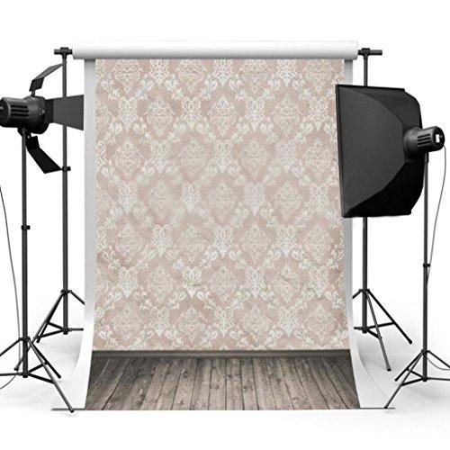 DODOING 3x5ft Photography Background Chic Rhombus Wall Wooden Floor Scene Backdrops Photo Studio Props 0.9x1.5m