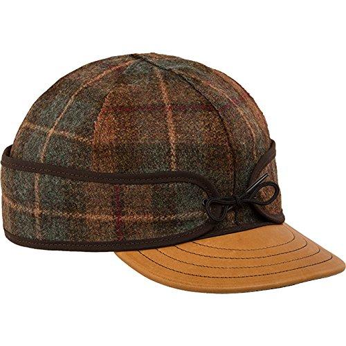 Stormy Kromer Men's Original Deerskin Brim Cap,Brown,7.75